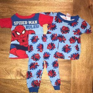 Spider-Man sleep set. 18 mo